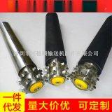 經銷供應包膠雙排鏈輪滾筒 聚氨酯滾筒 定做無動力包膠滾筒