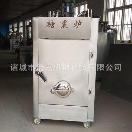 供应章丘熏鸡自动糖熏设备 中型不锈钢木粉沙糖糖熏炉厂家直销价
