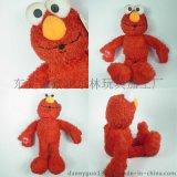 外貿毛絨玩具定製生產 芝麻街動漫形象艾摩公仔