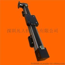 双轴心直线非滚珠丝杆同步带导轨 铝合金电动往复导轨 定制生产