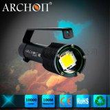 ARCHON奧瞳 新款D100W 龍王潛水手電筒 水下攝影攝像補光燈