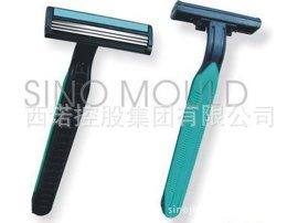 西诺双色刮胡刀注塑模具