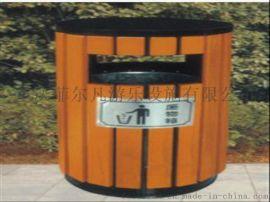 重庆贝特厂家供应,钢木单个垃圾桶,绿色环保果皮箱