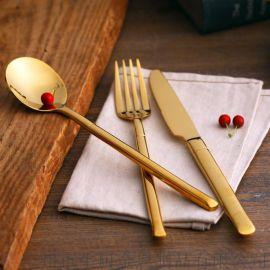 葡萄牙同款高檔西餐刀叉勺食具套裝 不鏽鋼主餐牛排刀叉湯勺子