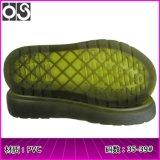 华塑鞋材 防滑透明PVC罗马凉鞋底 柔软平底马丁大底女 厂家批发