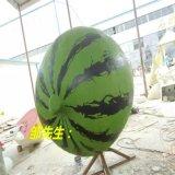 樹脂雕塑 大型西瓜擺設 卡通水果造型 FRP卡通彩繪西瓜定做