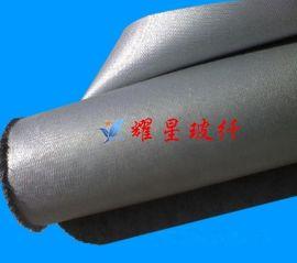 玻璃纤维涂覆PU 上海挡烟垂壁用硅胶布 银灰双面硅钛合金布