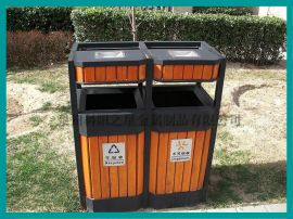 泉州厂家钢木垃圾桶、不锈钢垃圾桶销售 可接受定制
