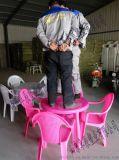 【阜辰】戶外大排檔塑料桌椅夏季燒烤的桌椅