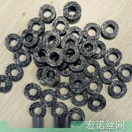 不锈钢丝网减震垫片专业生产圆孔密封垫圈