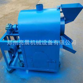 电加热燃气炒货机 不锈钢滚筒菜籽炒籽机 农作物烘培设备