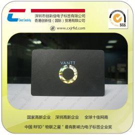 创新佳设计光面卡覆盖哑膜的卡 PVC哑面会员卡 IC哑面贵宾卡生产