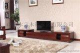 中式簡約實木電視櫃黃鳳梨禪意實木家具