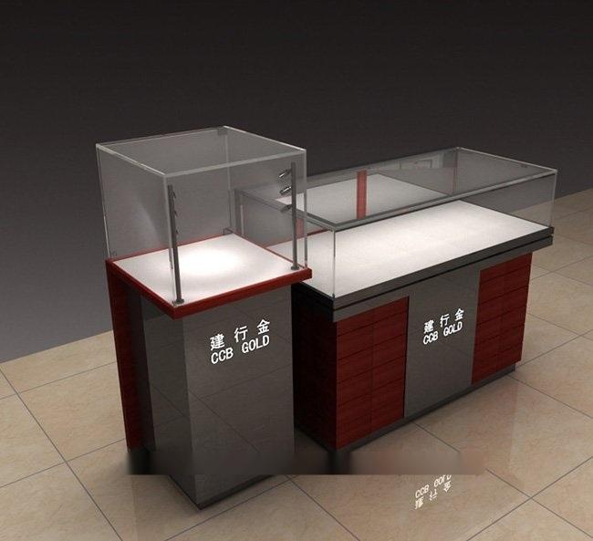 银行展柜设计图/平安银行展柜专业厂家,不锈钢贵金属展柜