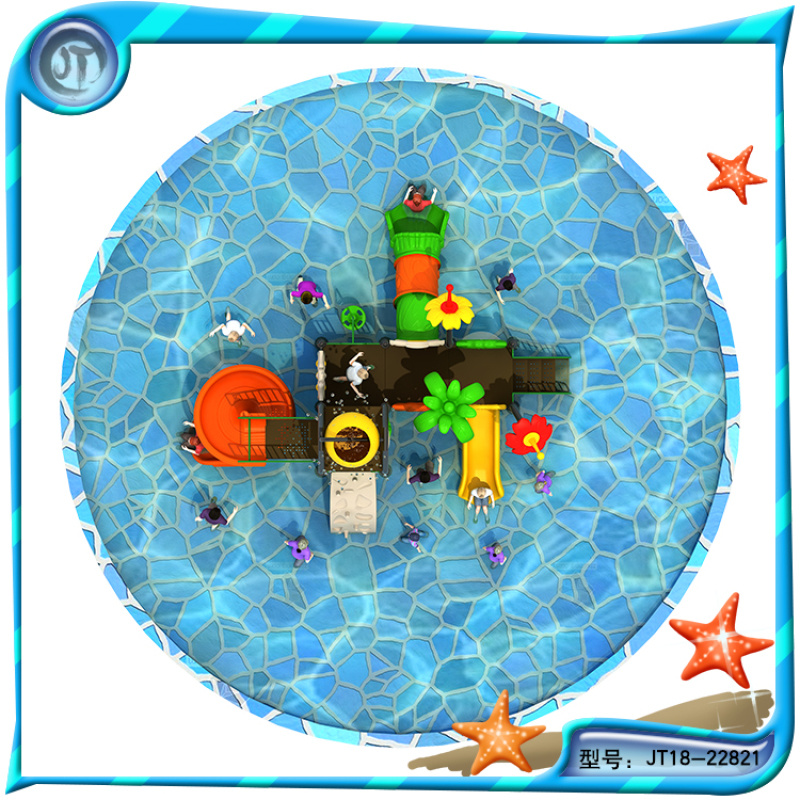 水上乐园城堡儿童水上组合滑梯 游泳组合滑梯