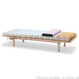 ansuner设计师定制  现代羊毛松木午休床