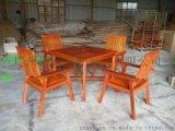 直销户外现货实木桌椅 休闲桌椅 花园小区组合桌椅
