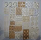 8*2mm 半球型透明玻璃膠墊