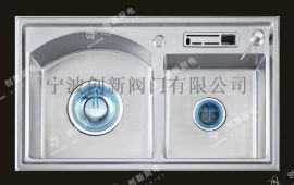 创新304不锈钢加厚水槽双槽洗菜盆不粘油加深SC-590