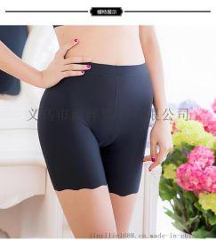 莫代爾高端安全褲防走光純棉內檔透氣孔無痕三分平角褲