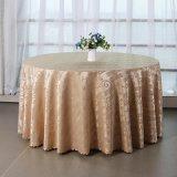 厂家直销提花涤纶圆形餐桌布 欧式酒店客厅茶几台布盖布桌裙批发