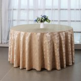 廠家直銷提花滌綸圓形餐桌布 歐式酒店客廳茶几檯布蓋布桌裙批發