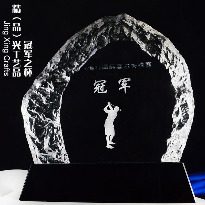高尔夫球奖牌 高尔夫球总杆纪念奖杯奖牌定制