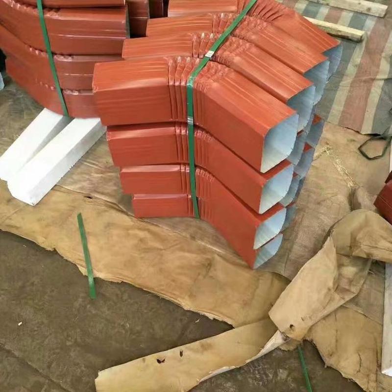 湖州供应144*108型/95*133型彩钢落水管 彩钢雨水管 彩铝落水管 金属雨水管 方型落水管 矩形落水管排水管