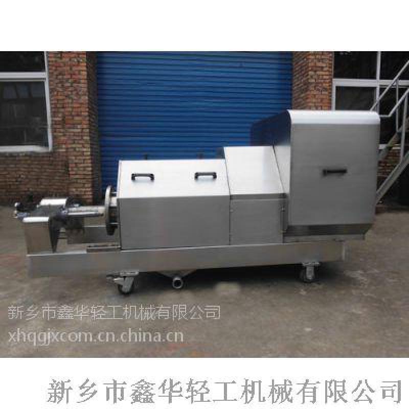 广西菜市场垃圾螺旋压榨机 不锈钢双螺旋压榨机