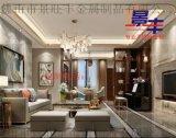 浙江萬豪酒店天花 玫瑰金扣邊包邊弧形不鏽鋼線條定製