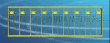 北京人民路土豪金防撞护栏用不锈钢方管带弧异型管