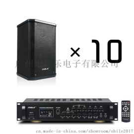 厂家直销功放AV8820+壁挂音箱BX101*10只会议家用商用音响系统