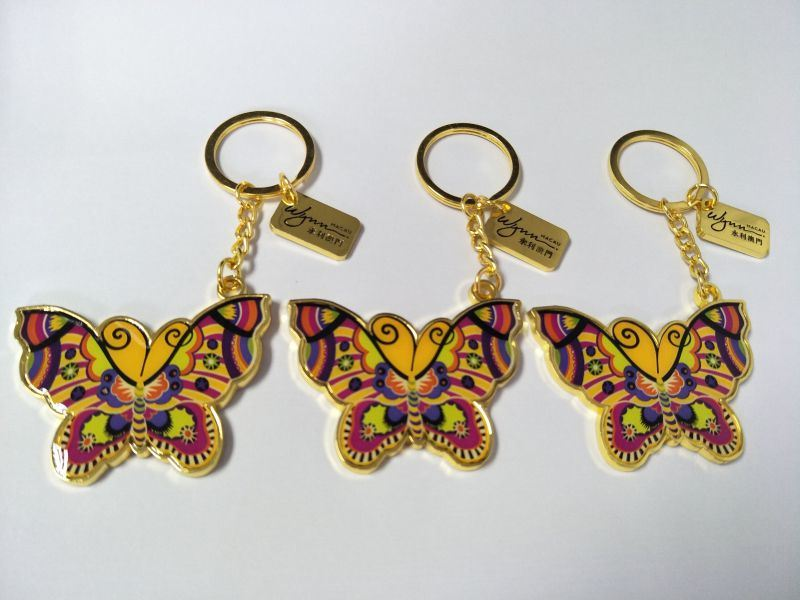 隆珅達專業定做金屬鑰匙扣創意新款蝴蝶鑰匙鏈定製物美價廉 歡迎訂購