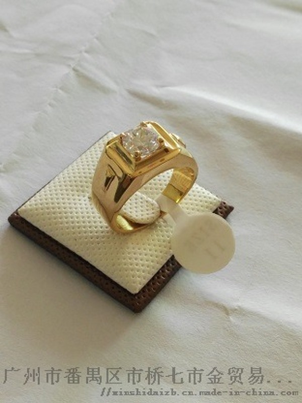 莫桑钻男戒指,宝石定制戒指