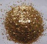 廠家直銷煅燒雲母,煅燒白雲母,金黃色雲母片