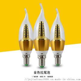 厂家直销 led蜡烛灯泡 拉尾灯泡