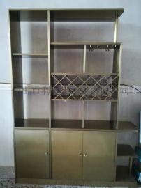 不鏽鋼鈦金酒櫃定制酒店恆溫酒櫃加工