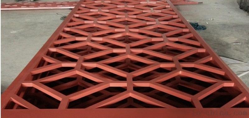 焊接红色铝窗花工艺品 装饰红色铝窗花样品房