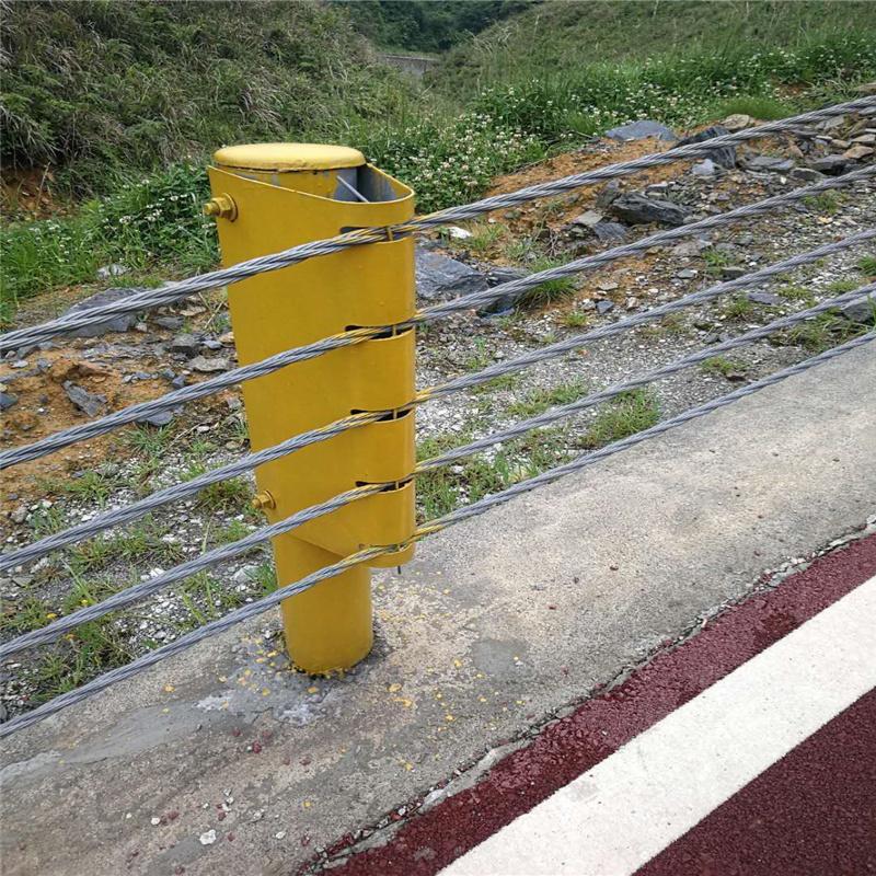 鋼絲繩護欄_鋼絲繩護欄廠家_鍍鋅鋼絲繩護欄