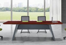 2406款2.4米油漆会议桌 油漆会议桌定制 胡桃木皮绿色环保家具