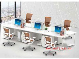 深圳华腾家具组合办公桌 ,时尚钢架职员办公台