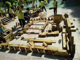 幼儿园积木 可凡炭烧积木 碳化积木玩具