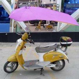 雨森摩托踏板车遮雨伞