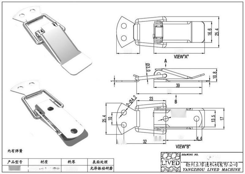 l供应高品质 【厂家直销】 ** QF-619不锈钢搭扣、**搭扣