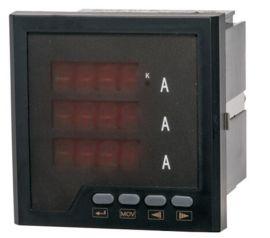 LEF818I-DK4外形48*48 三相电流表 数显式电流测量仪表