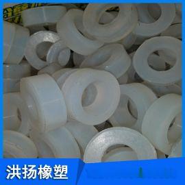 生产定制 圆形硅胶垫片 耐高温硅胶密封垫 白色硅胶缓冲垫 可定做