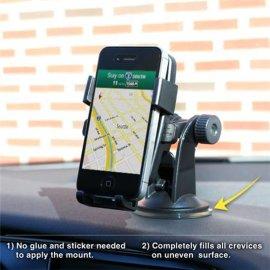 单手取放手机车载自动锁支架