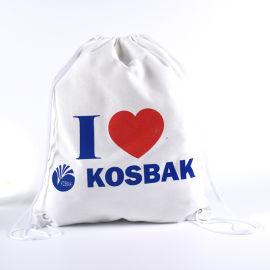 白色帆布袋束口袋定制棉布袋抽绳袋礼品袋购物袋