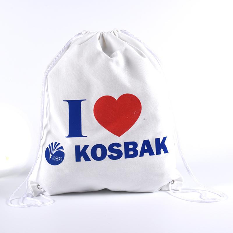 白色帆布袋束口袋定製棉布袋抽繩袋禮品袋購物袋