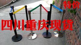 四川重庆现货栏杆座隔离带,银行排队柱一米线伸缩带礼宾柱